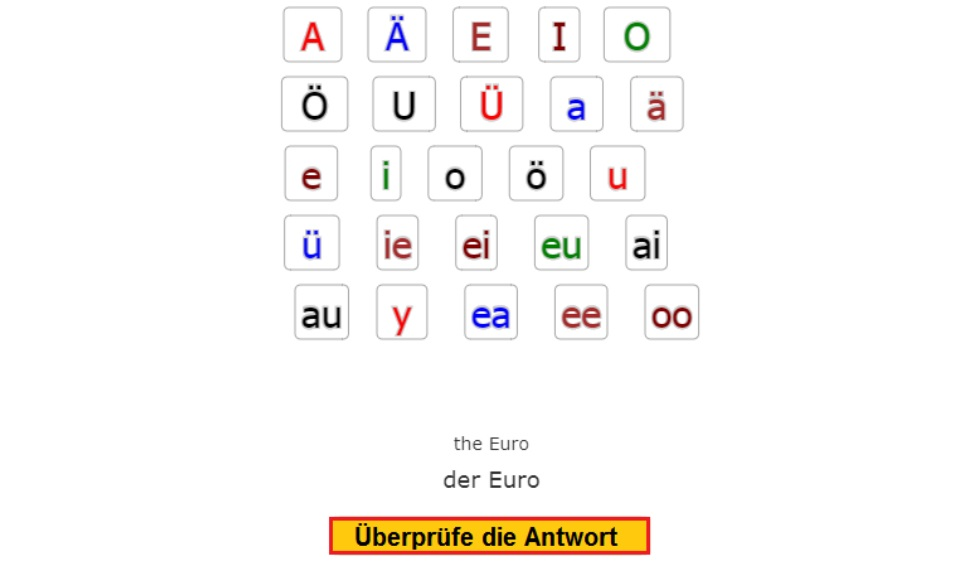 Reading Vowels<br>Diphthonge (diphthongs) AI, EE, EI, IE