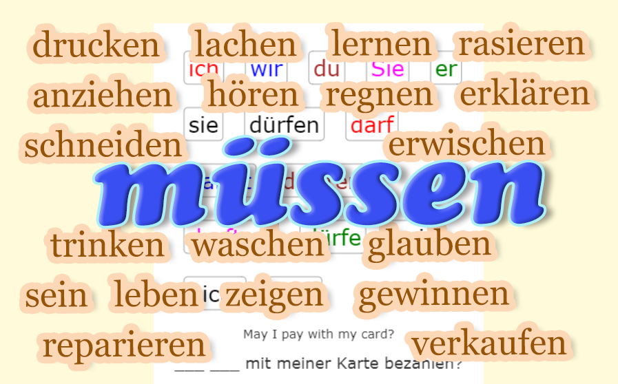 Verb MÜSSEN 2 - frequent verbs<br>(20 exercises)