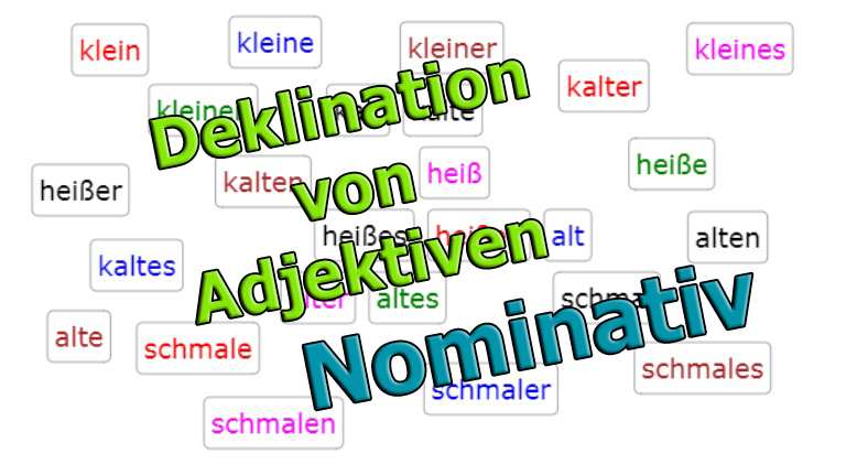 Declension of Adjectives - Nominative<br>(20 exercises)