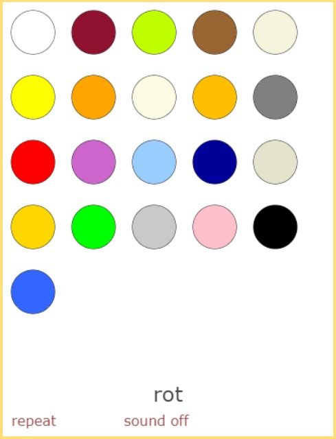 Names of Colours in German<br>(22 exercises)